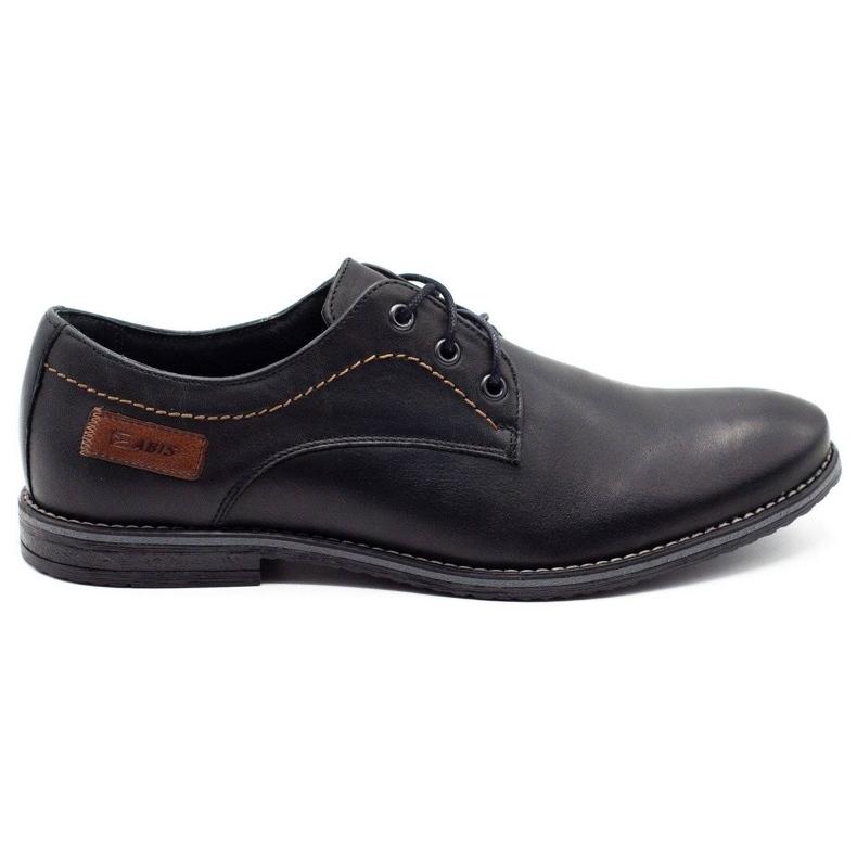 ABIS Leather men's shoes 4149 black grain