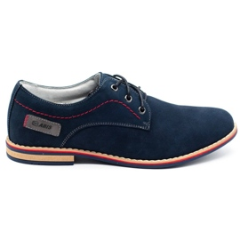 ABIS Leather men's shoes 4149 GR / B navy multicolored