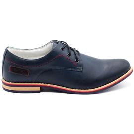 ABIS Men's leather shoes 4149 Grl navy