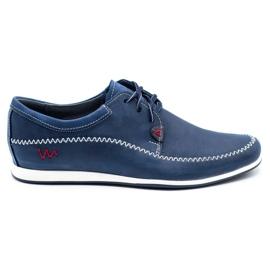 Polbut Leather men's shoes C22 navy blue