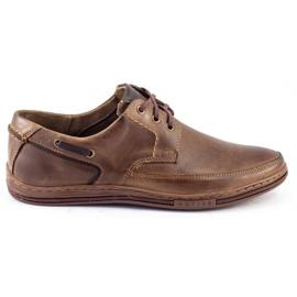 Polbut Leather men's shoes J44 Brown