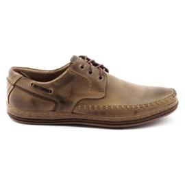 Polbut Leather men's shoes J44PŁ brown