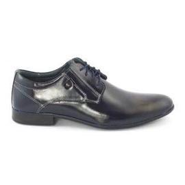KOMODO Formal men's shoes 850 navy blue grain