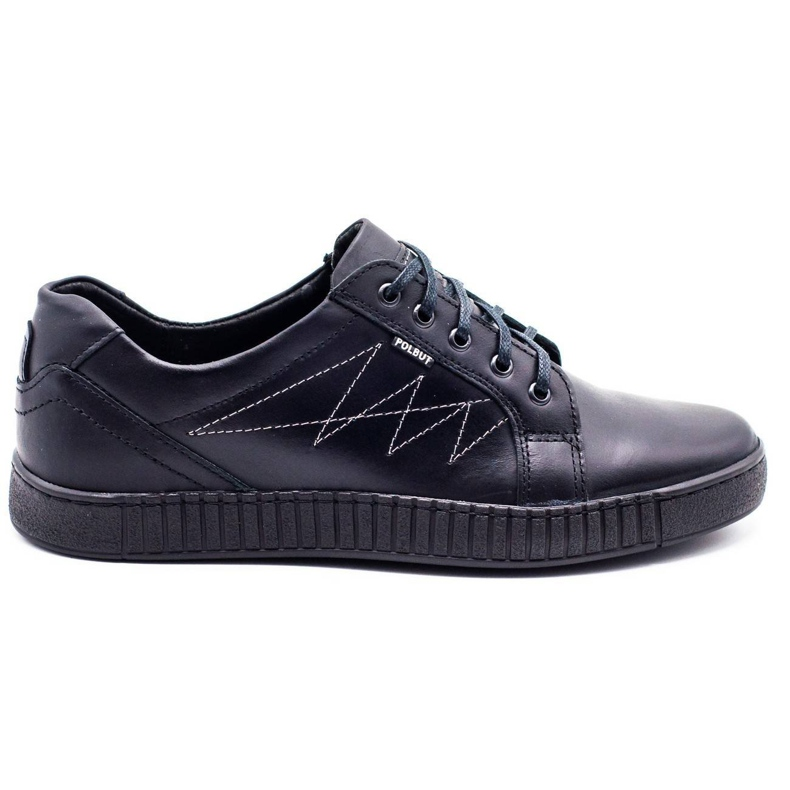Polbut Casual men's shoes J66 black with silver multicolored