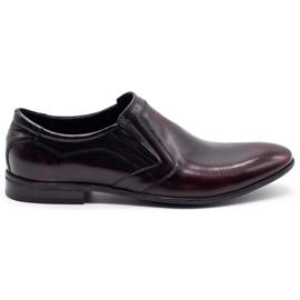 Lukas Men's formal slip-on shoes 284 cherry red