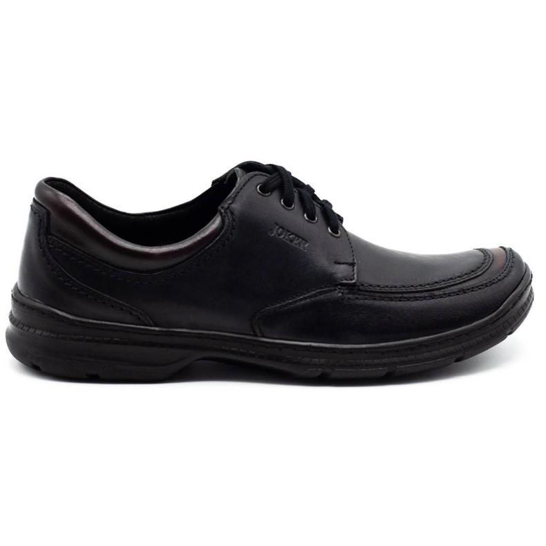 Joker Black men's leather shoes 936