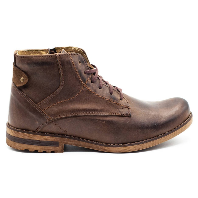 KOMODO Brown men's winter boots 731K