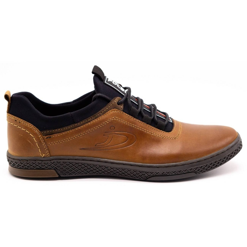 Polbut Men's casual leather shoes K24 camel brown