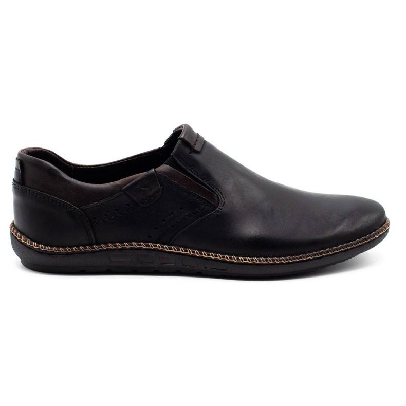 Polbut Black men's shoes 401E