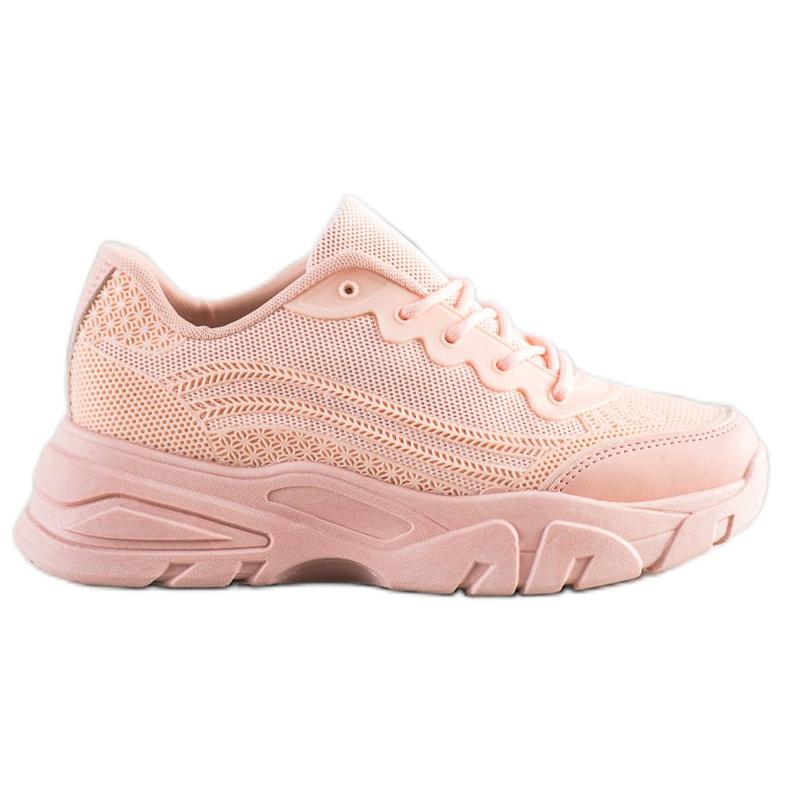 SHELOVET Powder sneakers pink