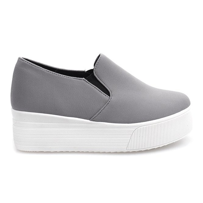 Creepers Sneakers On Platform 812 Gray grey