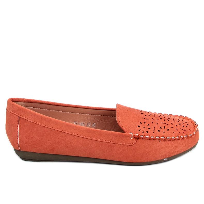 Orange openwork loafers XR-1R6 Orange