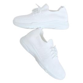 White sports socks C9239 Bianco
