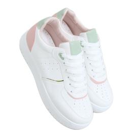 White women's sports shoes BL218P Pink