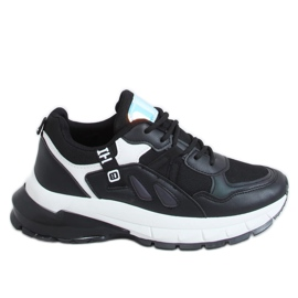 Black sports shoes for women B0-553 Black