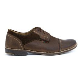 Olivier Men's leather shoes 253 brown