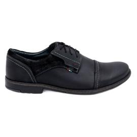 Olivier Men's leather shoes 253 black