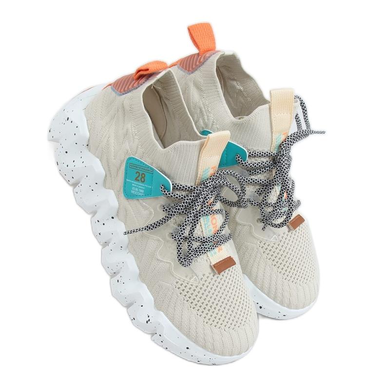 High-soled beige NB387 Beige sports shoes