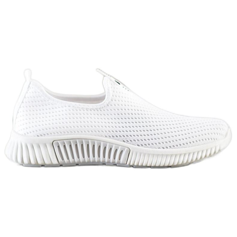 SHELOVET Comfortable Textile Sneakers white