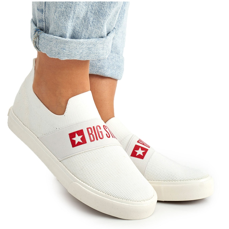 Women's Sneakers Slip-on Big Star FF274219 White