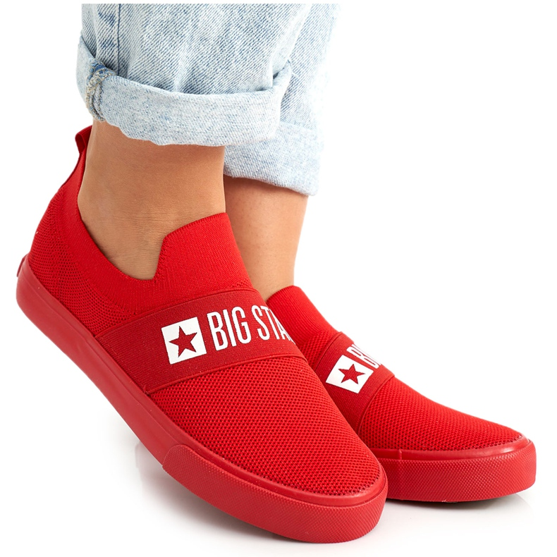 Women's Sneakers Slip-on Big Star FF274220 Red