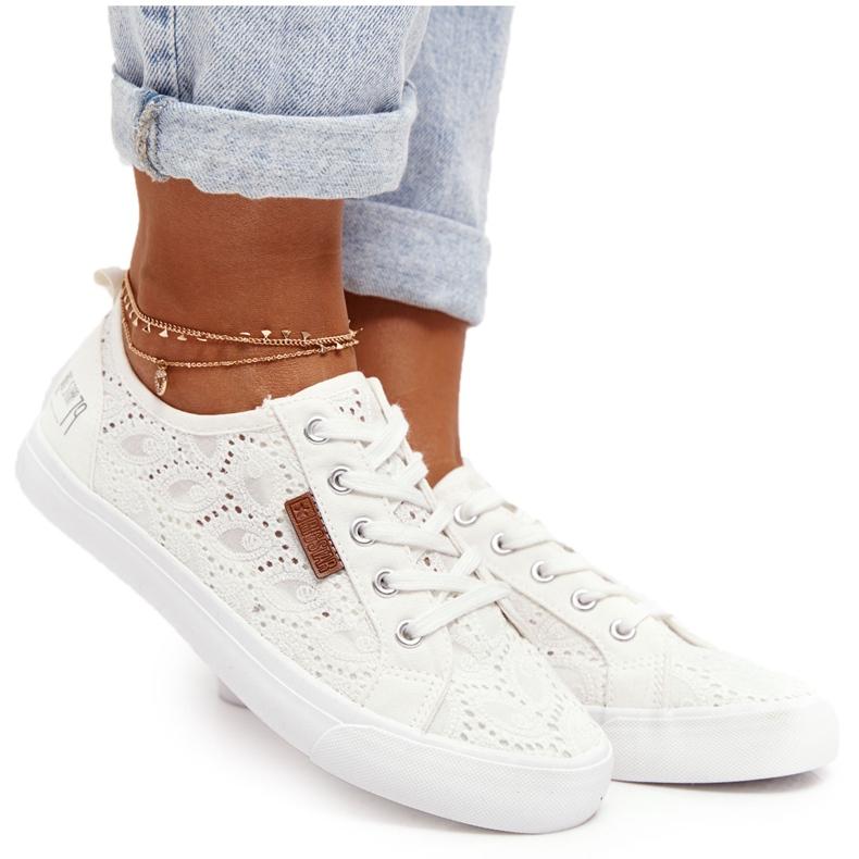 Women's Lace Sneakers Big Star W274925 White