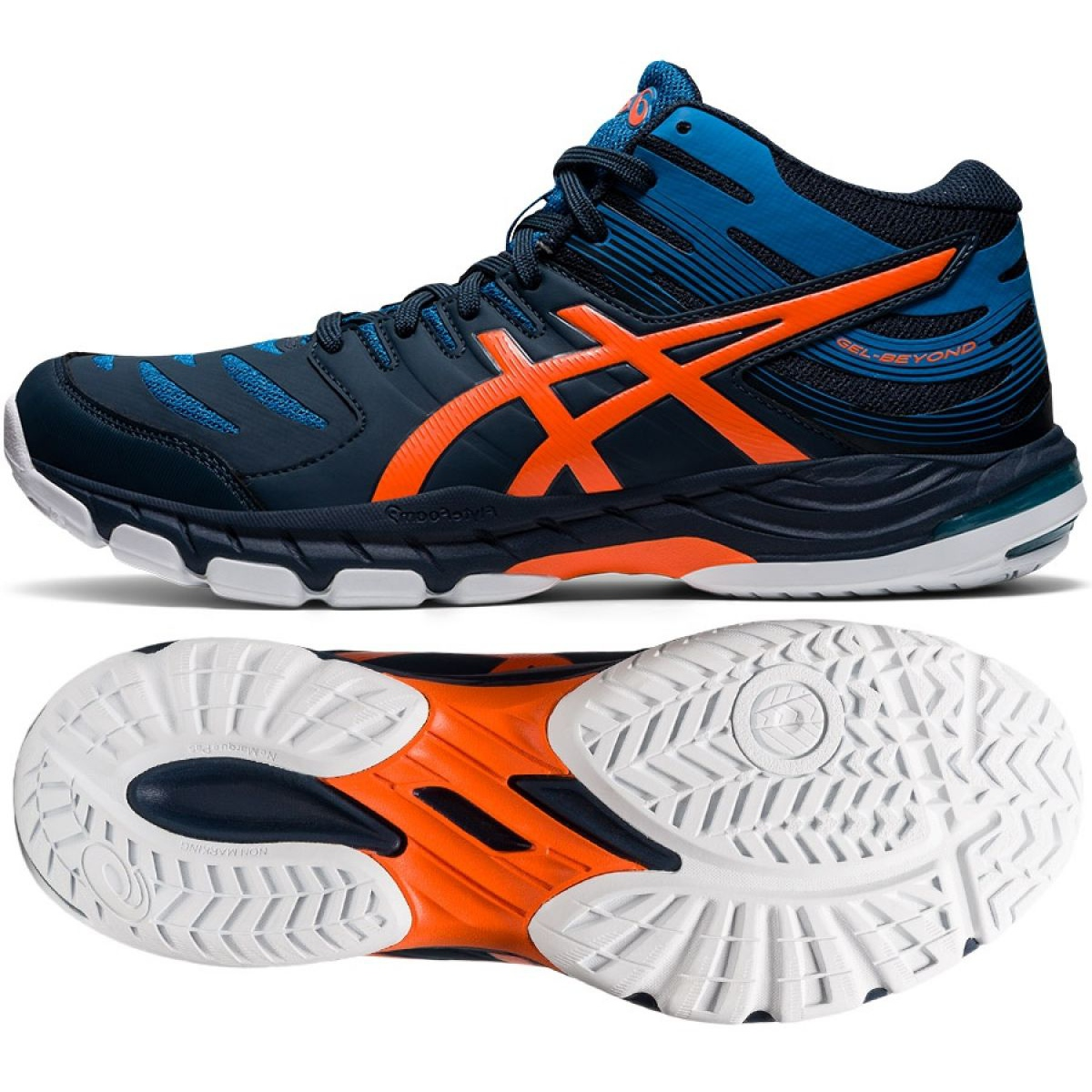 Asics GEL-BEYOND Mt 6 M 1071A050-400 volleyball shoes multicolored navy blue