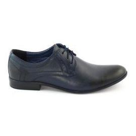 TAPI Men's elegant shoes 4536 navy blue