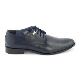 Formal men's shoes 090 navy blue
