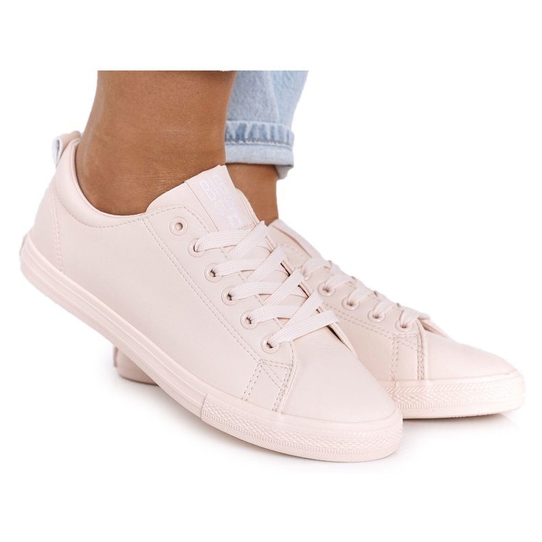 Women's Leather Sneakers Big Star HH274141 Light Pink