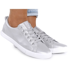 Women's Leather Sneakers Big Star HH274143 Silver