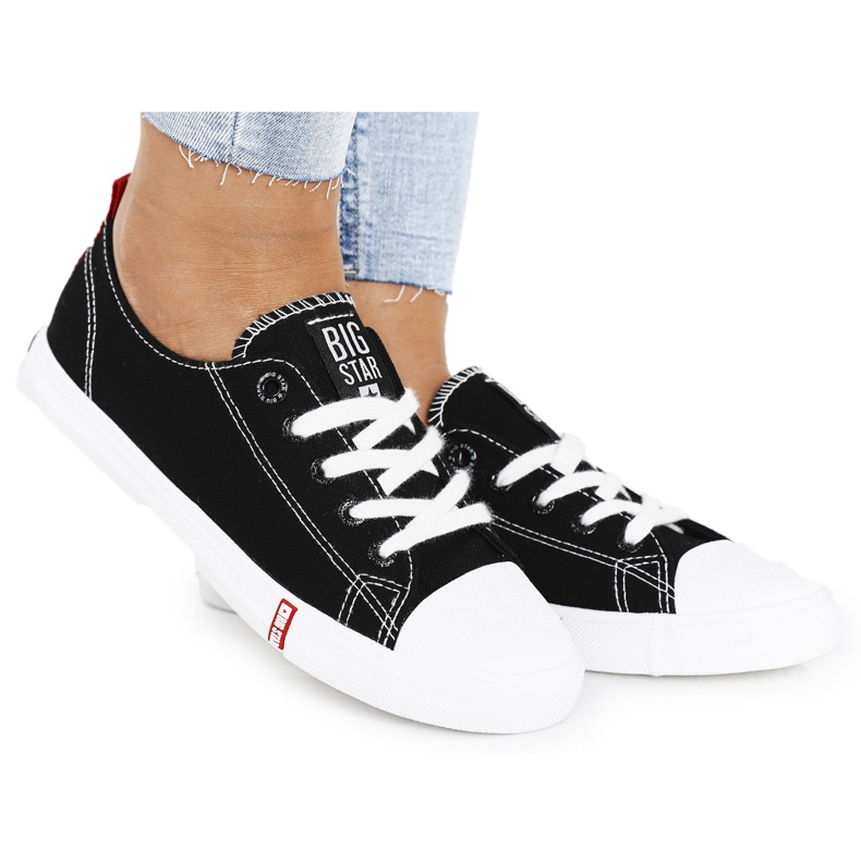 Women's Sneakers Big Star FF274085 Black and Red