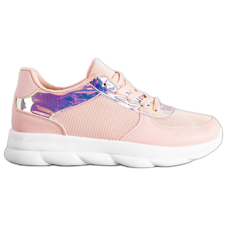 SHELOVET Classic Powder Sneakers pink