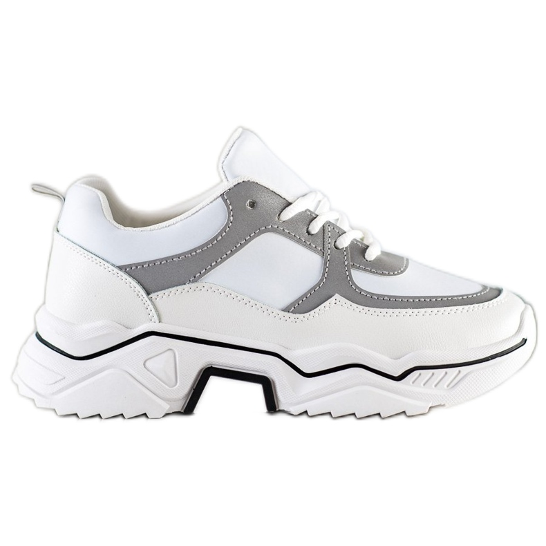 SHELOVET Comfortable sports sneakers white grey multicolored