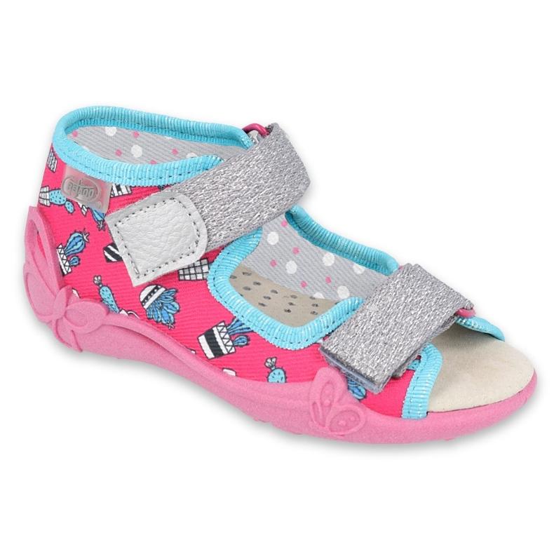 Befado yellow children's shoes 342P026 blue pink silver
