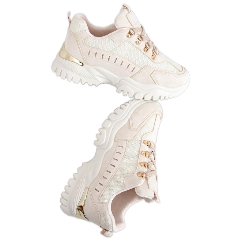 Beige sports shoes VL131P Beige