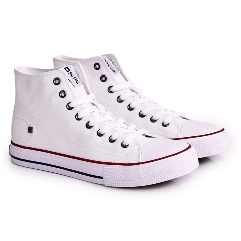 Men's Classic High-top Sneakers Big Star DD174251 White