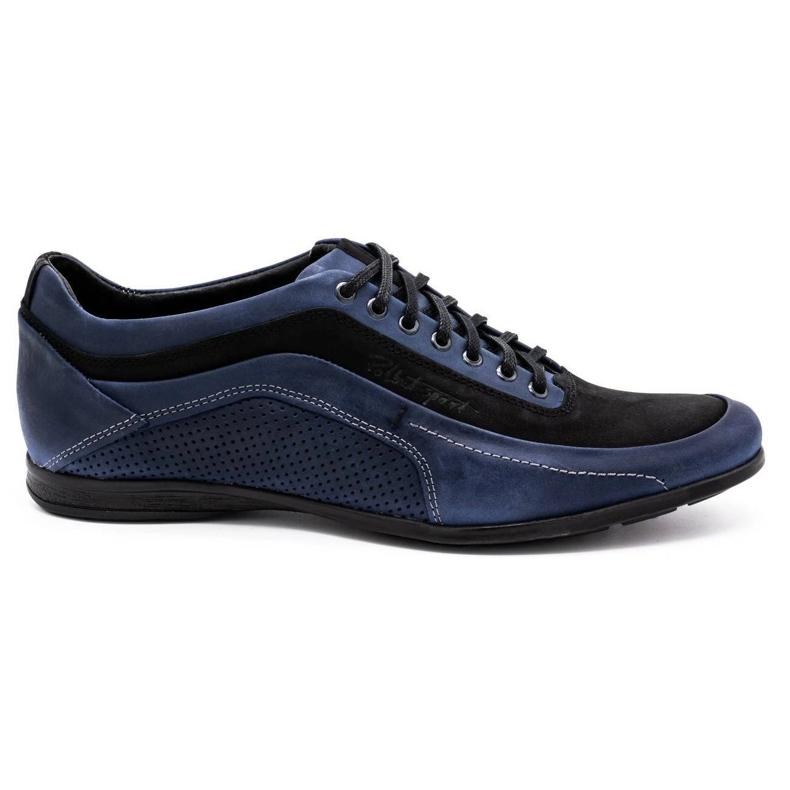 Polbut Men's casual shoes 2101P navy blue