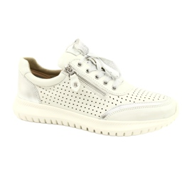 Caprice sneakers tęg.H 23750 white comb silver