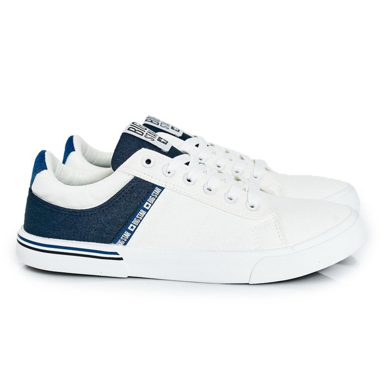 Men's Sneakers Big Star FF174136 White and Navy navy blue