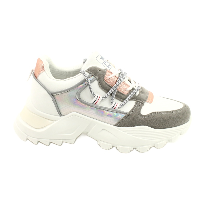 Evento Sports women's sneakers News 21SP26-3973 white silver grey golden