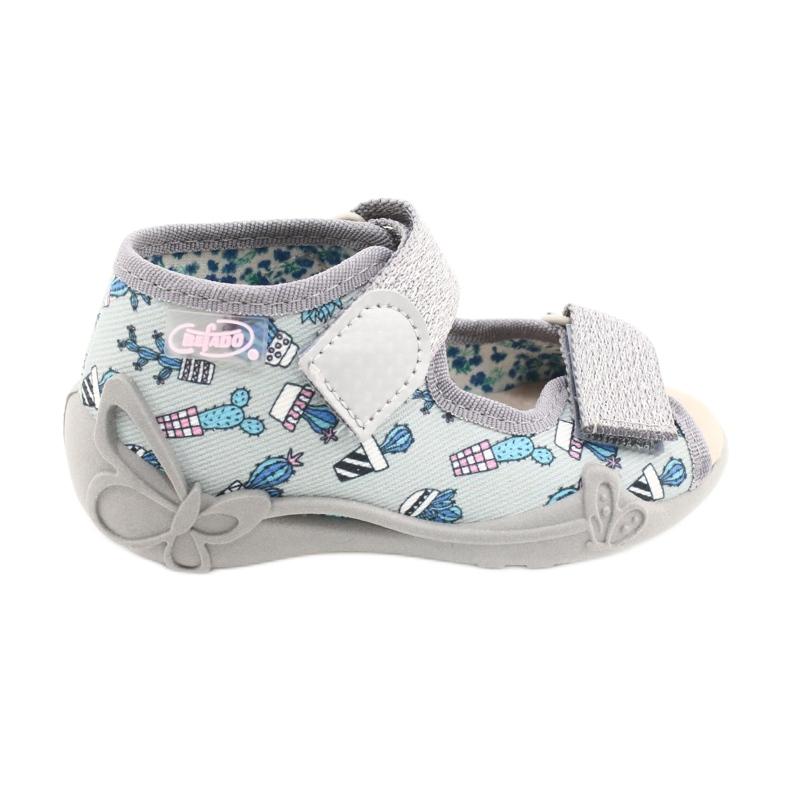 Befado yellow children's shoes 342P025 blue grey