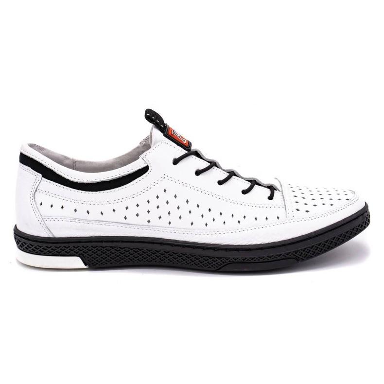 Polbut Men's leather summer shoes K22 white