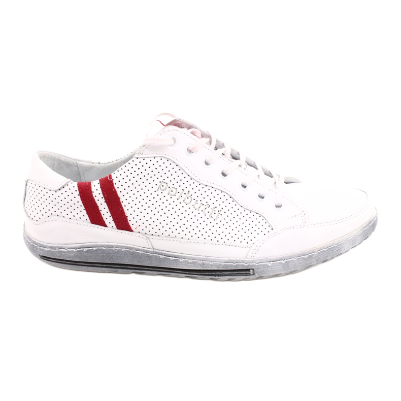 Polbut JOK31 white casual shoes red