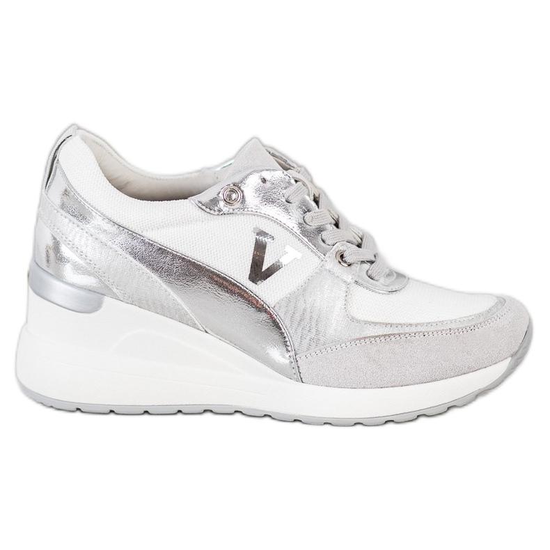 VINCEZA Wedge Sneakers white