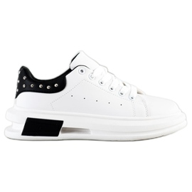 SHELOVET Sneakers With Studs white black