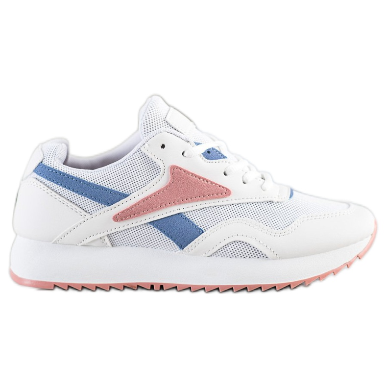 SHELOVET Sport Shoes With A Net white blue pink
