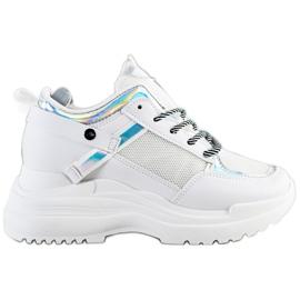 Marquiz Sneakers Wedge white silver