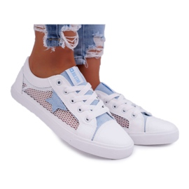 Women's Sneakers With Mesh Big Star DD274689 White-Blue