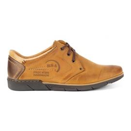 Polbut Men's leather shoes 2103 camel brown